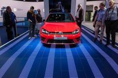 Volkswagen Golf dotyk przy IAA 2015 Fotografia Royalty Free