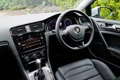 Volkswagen Golf GT 2017 inre Arkivfoton