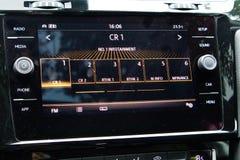Volkswagen Golf GT instrumentbräda 2017 Arkivbild