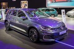 Volkswagen Golf GTE-inkopplingshybrid- bil Arkivfoto