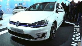 Volkswagen Golf GTE plug-in hybrid car stock footage
