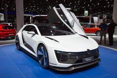 Volkswagen Golf GTE Sport. FRANKFURT, GERMANY - SEP 16, 2015: Volkswagen Golf GTE Sport concept car at the IAA 2015 Royalty Free Stock Images
