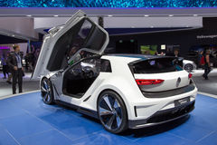 Volkswagen Golf GTE Sport. FRANKFURT, GERMANY - SEP 16, 2015: Volkswagen Golf GTE Sport concept car at the IAA 2015 Stock Photography