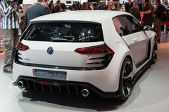 Volkswagen Golf GTi car on display at the LA Auto Show. Stock Image