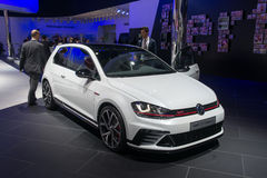 Volkswagen Golf GTI Clubsport - world premiere. Stock Photos
