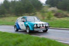 1980 Volkswagen Golf I bij ADAC Wurttemberg Historische Rallye 2013 Stock Foto