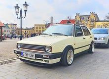 Volkswagen Golf II, når parkerat att ha trimmat Royaltyfri Fotografi