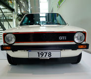 Volkswagen Golf Mk1 GTI an Volkswagen-Museum lizenzfreies stockbild