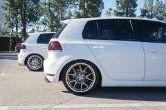 Volkswagen Golf op vertoning Stock Fotografie