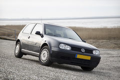 Volkswagen Golf. 4 parked in front of beautiful nature scene stock photos