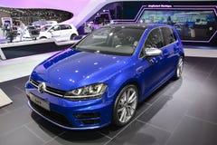 Volkswagen Golf R al salone dell'automobile di Ginevra Fotografia Stock Libera da Diritti
