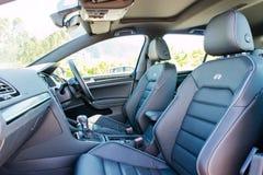 Volkswagen Golf R 2017 Seat Royaltyfri Bild