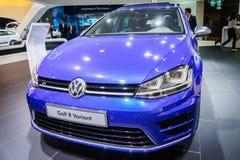 Volkswagen Golf R variant, motorisk show Geneve 2015 Arkivfoto