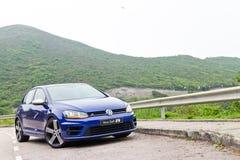 Volkswagen Golf R 2014 2015 version Arkivbild