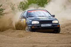 Volkswagen  Golf on rally Royalty Free Stock Image