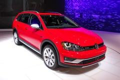Volkswagen Golf TSI no 2016 Sh internacionais de New York auto Fotografia de Stock