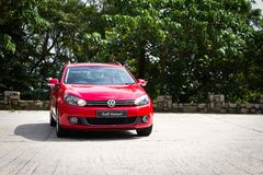 Volkswagen Golf Variant 2012. This is basic model in euro avant car Royalty Free Stock Images