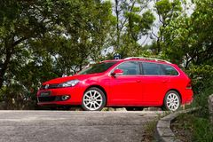 Volkswagen Golf Variant 2012. This is basic model in euro avant car Royalty Free Stock Image