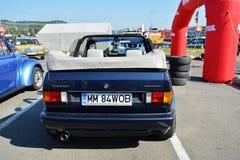 Volkswagen-golfcabrio 1800 klassiek autoachtergedeelte Stock Fotografie