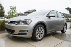 Volkswagen-golftdi 2015 Auto door emissiesschandaal dat wordt beïnvloed Royalty-vrije Stock Afbeeldingen