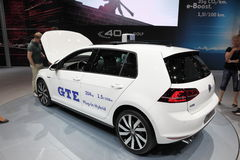 Volkswagen GTE Plug-In-Hybrid. At the AMI - Auto Mobile International Trade Fair on June 1st, 2014 in Leipzig, Saxony, Germany Stock Photography