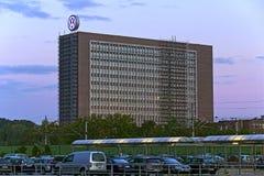 Volkswagen Headquarter. Wolfsburg, Germany - September 26, 2015: Office building management of German automobile manufacturer Volkswagen Group (VW Stock Image