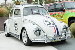 Volkswagen Herbie Beetle on display Royalty Free Stock Images