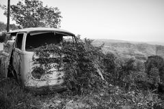 Volkswagen on the hill. Extreme view royalty free stock photos