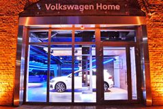 Volkswagen Home is like no other known car showroom royalty free stock images