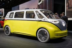 Volkswagen I.D. Buzz electric self-driving camper Royalty Free Stock Photography