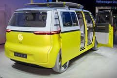 Volkswagen I.D. Buzz. Frankfurt-September 20:  Volkswagen I.D. Buzz concept at the Frankfurt International Motor Show on September 20, 2017 in Frankfurt Stock Photos