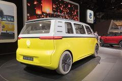 Volkswagen I.D. Buzz Van Concept on display during LA Auto Show. Los Angeles, USA - November 30, 2017: Volkswagen I.D. Buzz Van Concept on display during LA Auto royalty free stock image
