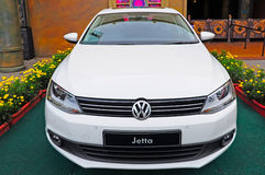 Volkswagen jetta. On display at a garden in hong kong stock photo
