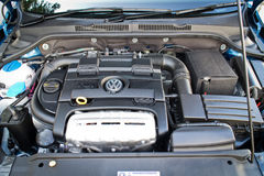 Volkswagen Jetta 2015 engine Stock Photo