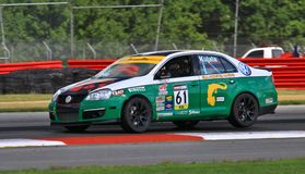 Volkswagen Jetta racing Royalty Free Stock Images
