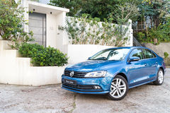 Volkswagen Jetta 2015 Test Drive Royalty Free Stock Photos