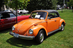Volkswagen-Käfer im antiken Car Show Stockfoto