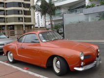 Volkswagen Karmann Ghia in Miraflores stock photography
