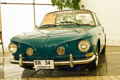 Volkswagen Karmann Ghia Type 34, Vintage car. BANGKOK - JUNE 25 : Volkswagen Karmann Ghia Type 34, Vintage cars on display in Future park shopping center to Royalty Free Stock Photo