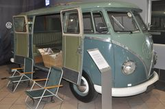 The Volkswagen Kombi , Camper , 1950. The Volkswagen Type 2, known officially depending on body type as the Transporter, Kombi or Microbus, or, informally, as stock image