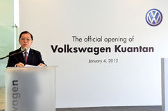 Volkswagen Kuantan, apertura oficial 2012 Foto de archivo