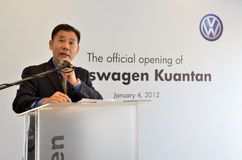 Volkswagen Kuantan, lançamento 2012 da sala de exposições de Malaysia Fotografia de Stock