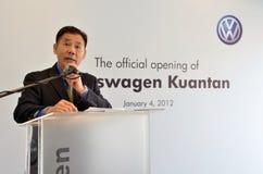 Volkswagen Kuantan, Malaysia-Ausstellungsraum-Produkteinführung 2012 Stockfotografie