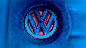 Volkswagen logo Arkivfoton