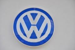 Volkswagen logo Arkivfoto