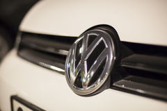 Volkswagen logo on a car Royalty Free Stock Image