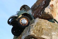Volkswagen maggiolino. Car crush in Matera modern art museum Royalty Free Stock Images