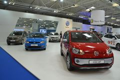Volkswagen at Motorshow. VW Cross up! and VW Polo at Motorshow royalty free stock photo