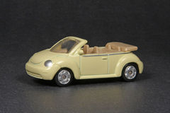 Volkswagen New Beetle Cabriolet. Maisto 3 inch diecast, black background Royalty Free Stock Photography