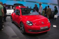 Volkswagen ny skalbagge - rysspremiär Arkivbilder
